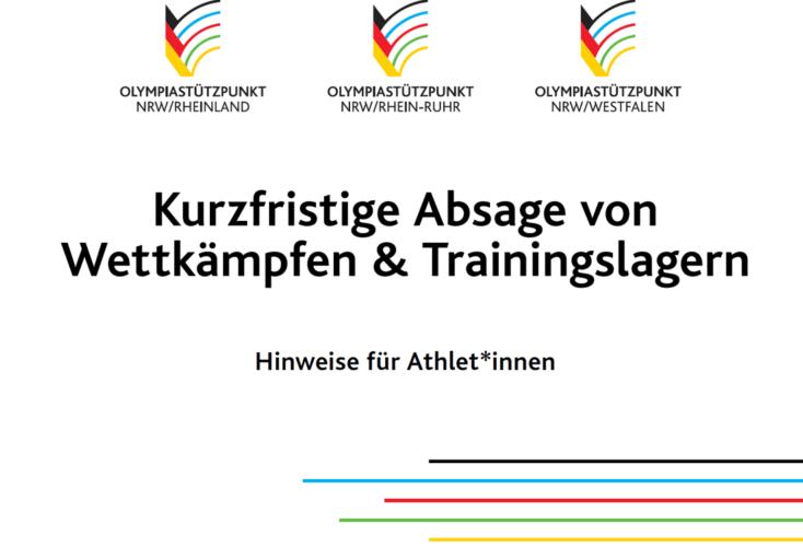 """Bild zur News Sportpsychologie: Athlet*innen-Info """"Kurzfristige Absage von Wettkämpfen & Trainingslagern"""""""