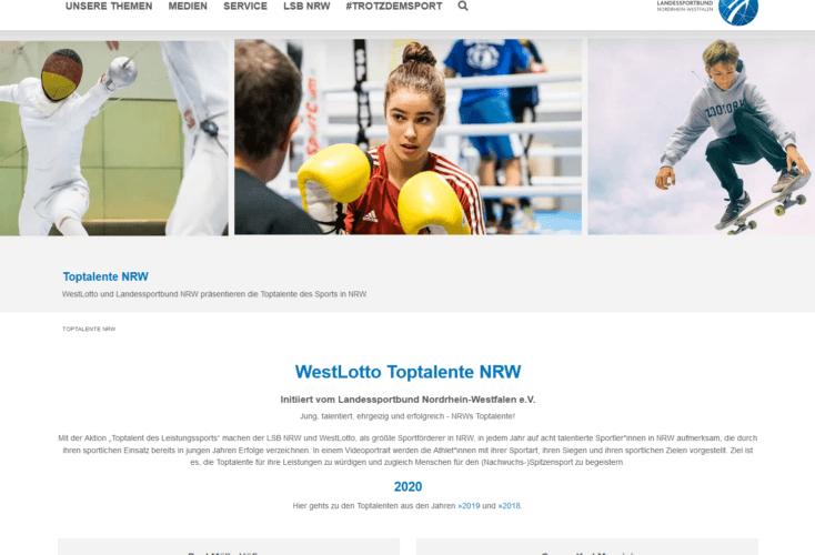 Bild zur News Toptalente NRW: Wertschätzung für Nachwuchsleistungssportler durch den Landessportbund NRW