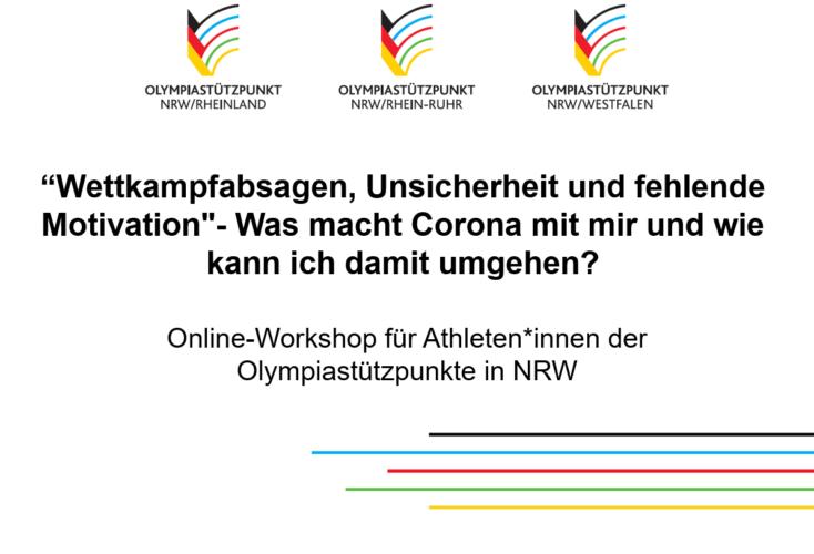Bild zur News Sportpsychologie: Online-Workshop für Athleten*innen der Olympiastützpunkte in NRW
