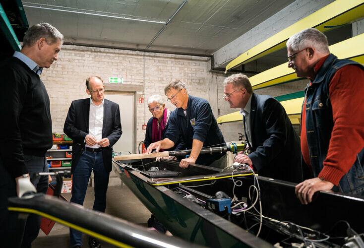 Bild zur News LSB-Spitze besucht Ruderleistungszentrum Dortmund